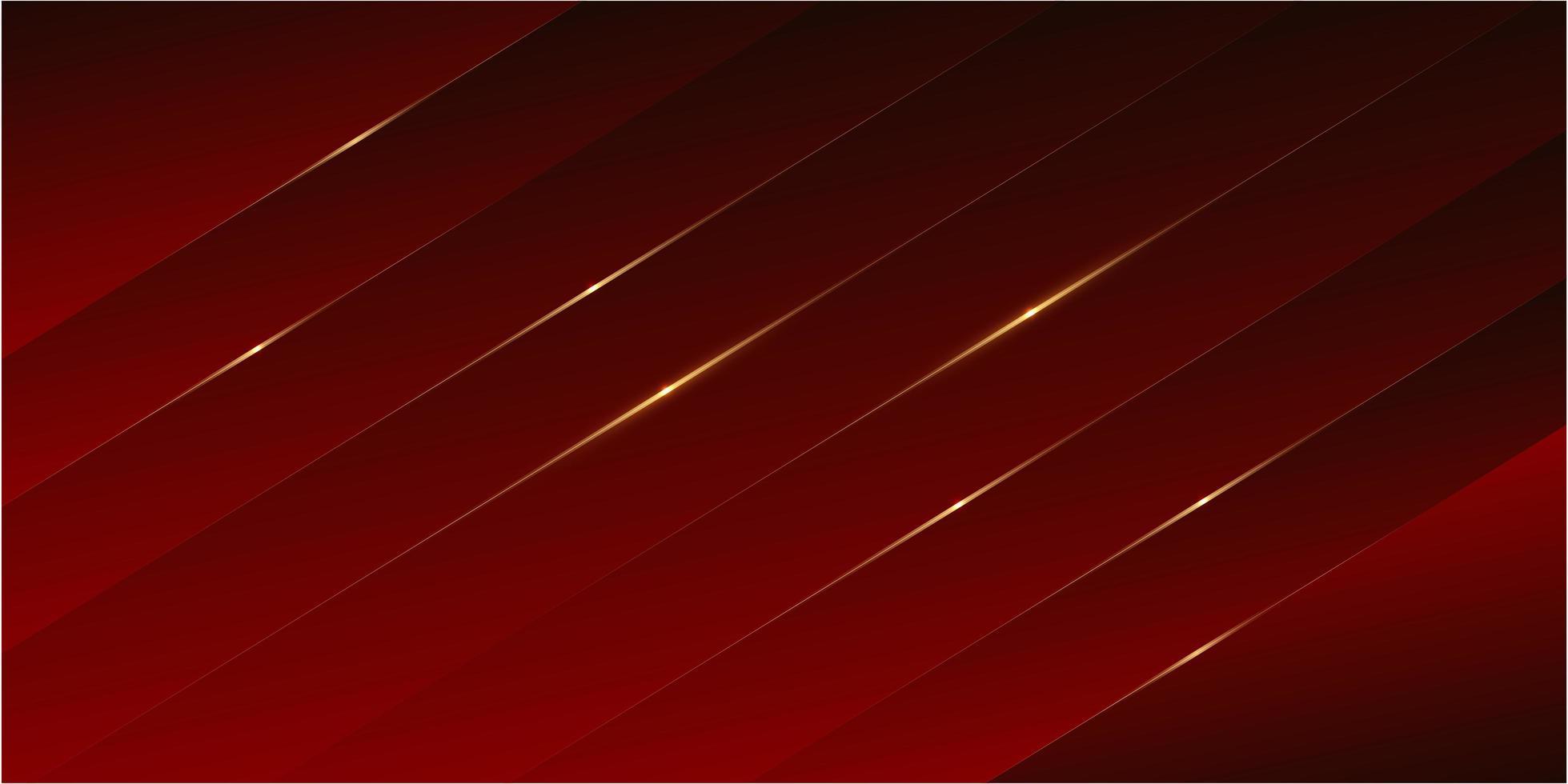panneaux de luxe rouges avec un design moderne de ligne dorée. vecteur