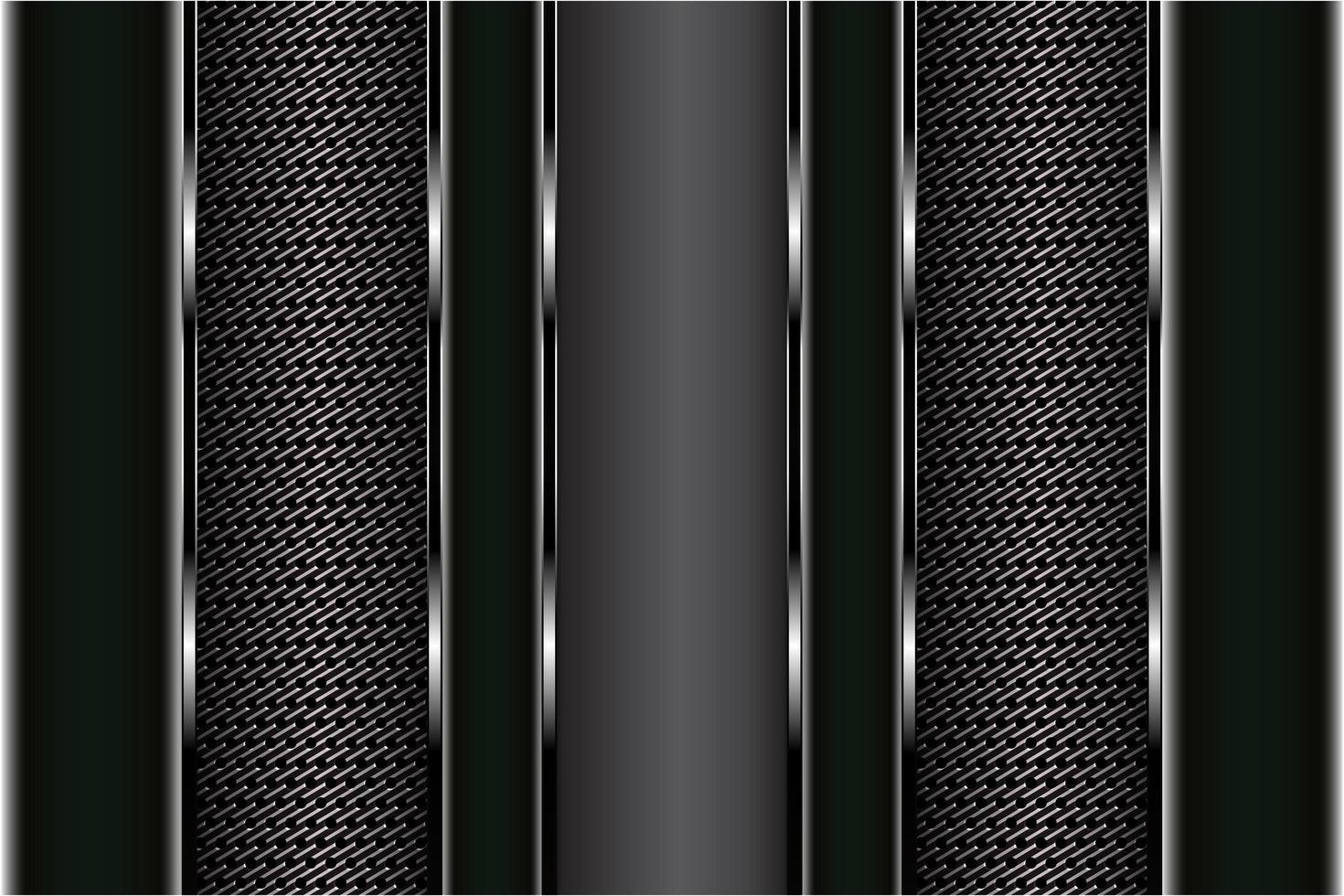 panneaux de texture en fibre de carbone et noir métallisé vecteur