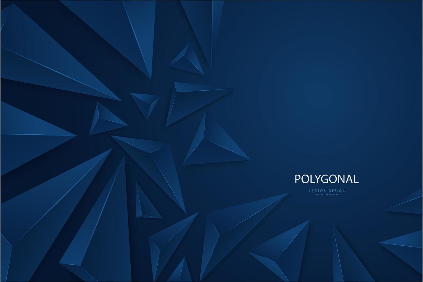 Design moderne de triangles 3d métalliques bleu foncé. vecteur