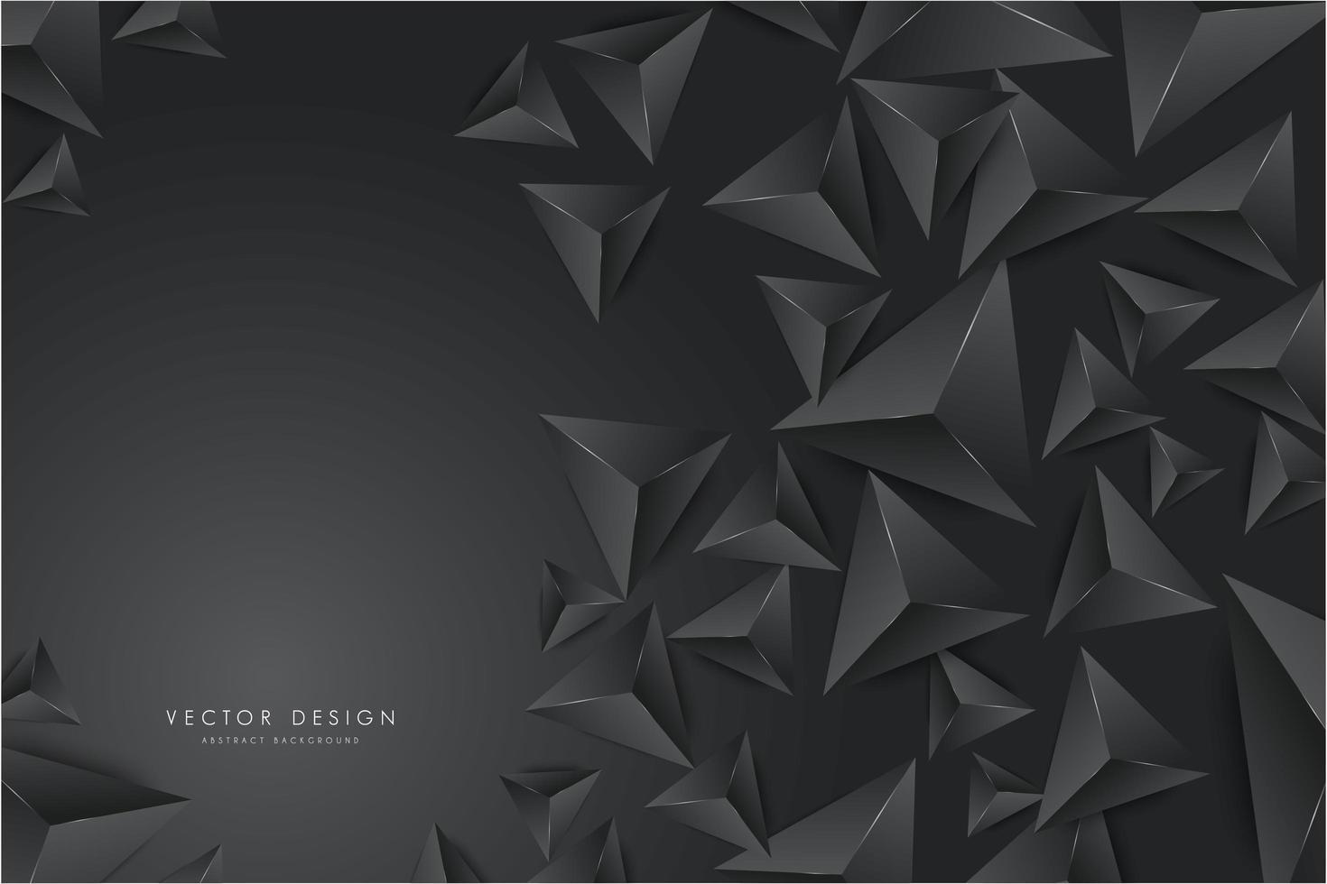Design moderne de triangles 3d gris foncé. vecteur