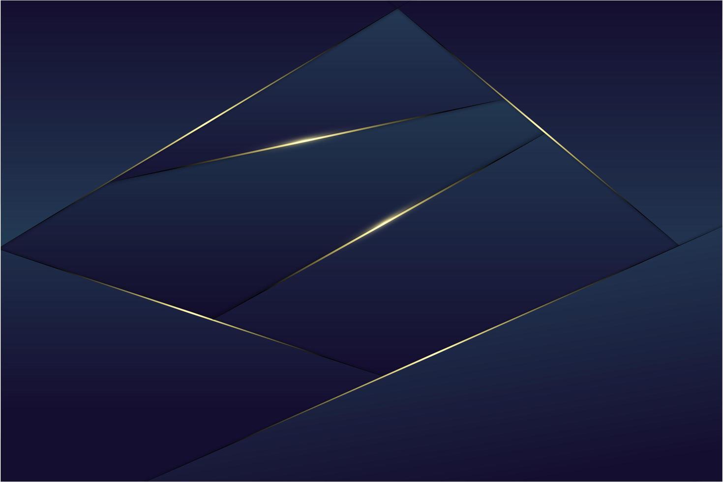 fond polygonale métallique bleu. vecteur