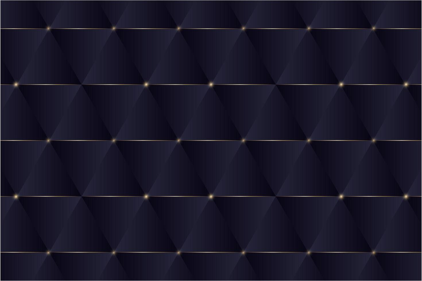 triangles bleus et design moderne de lignes dorées. vecteur