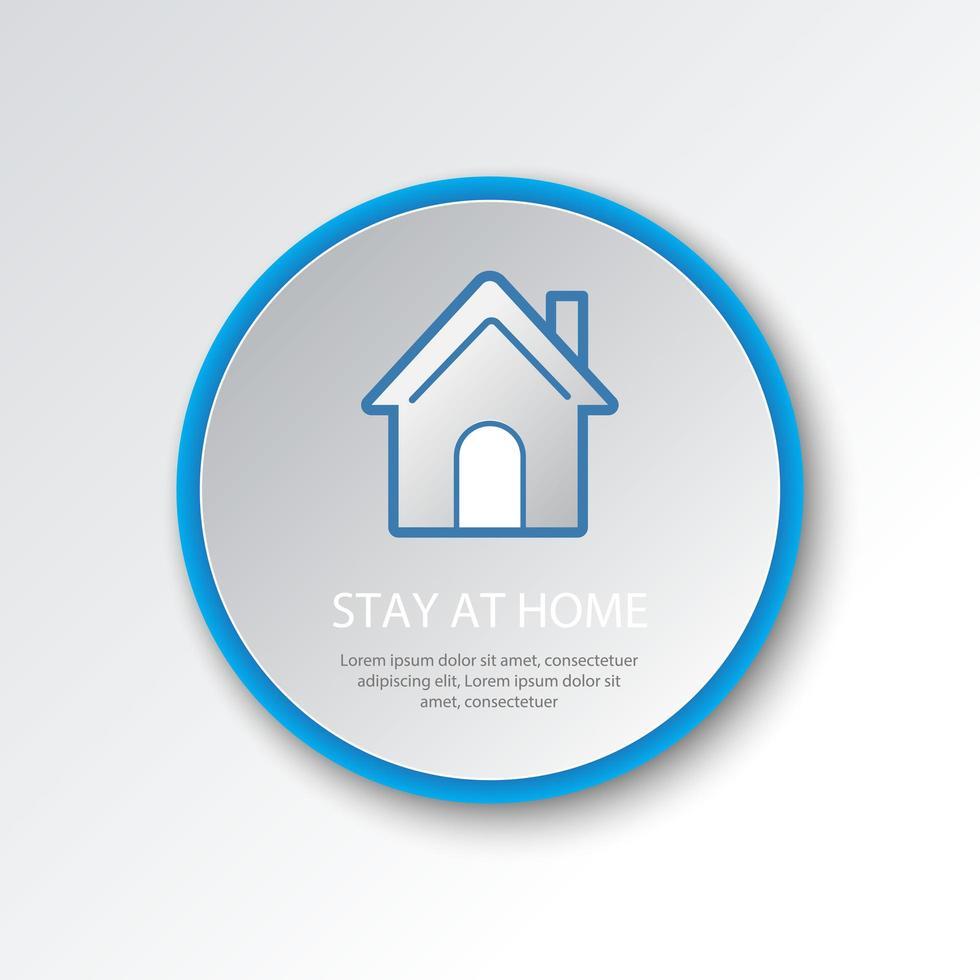 icône du bouton d'accueil circulaire vecteur