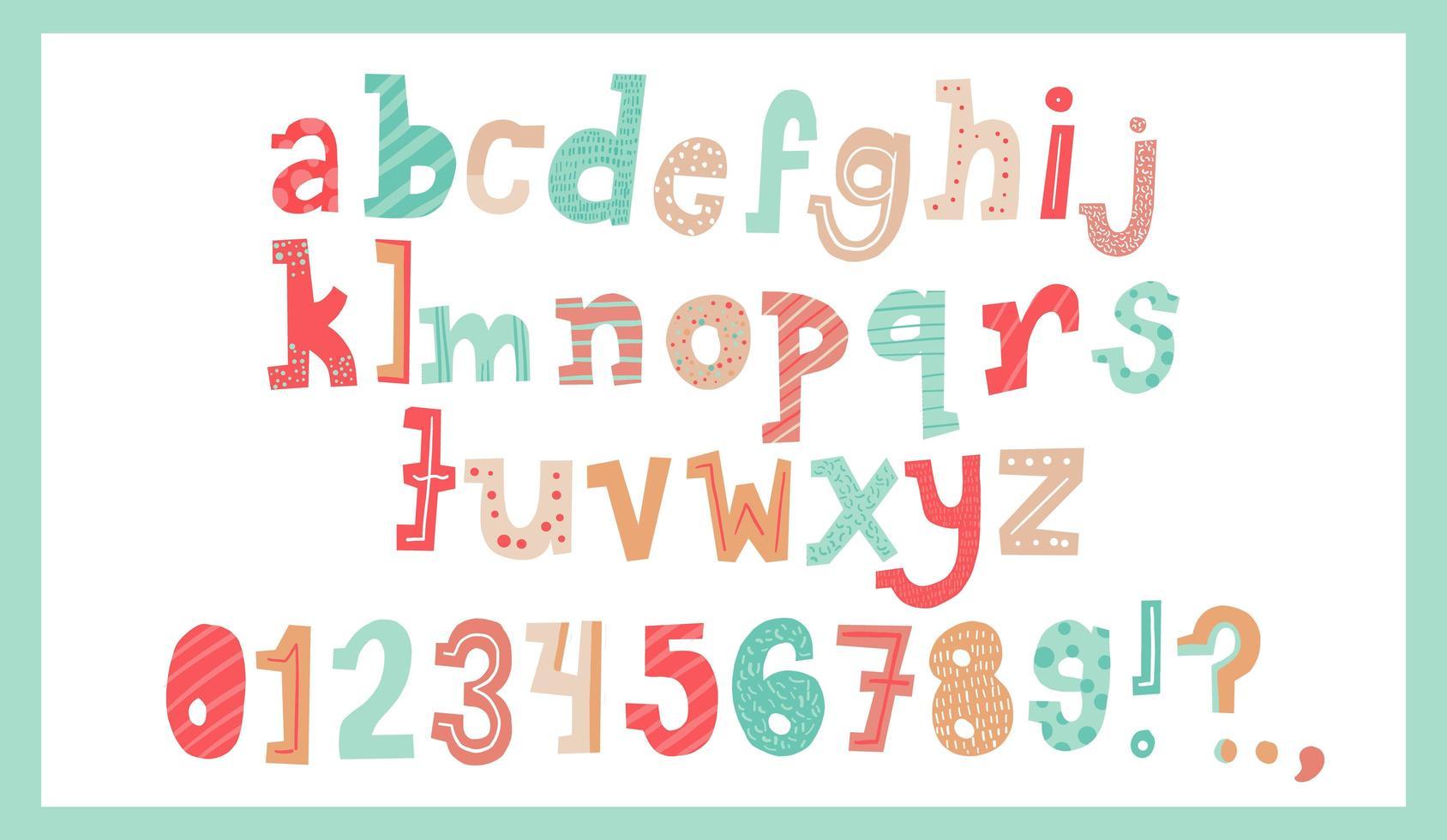alphabet de Noël mignon vecteur