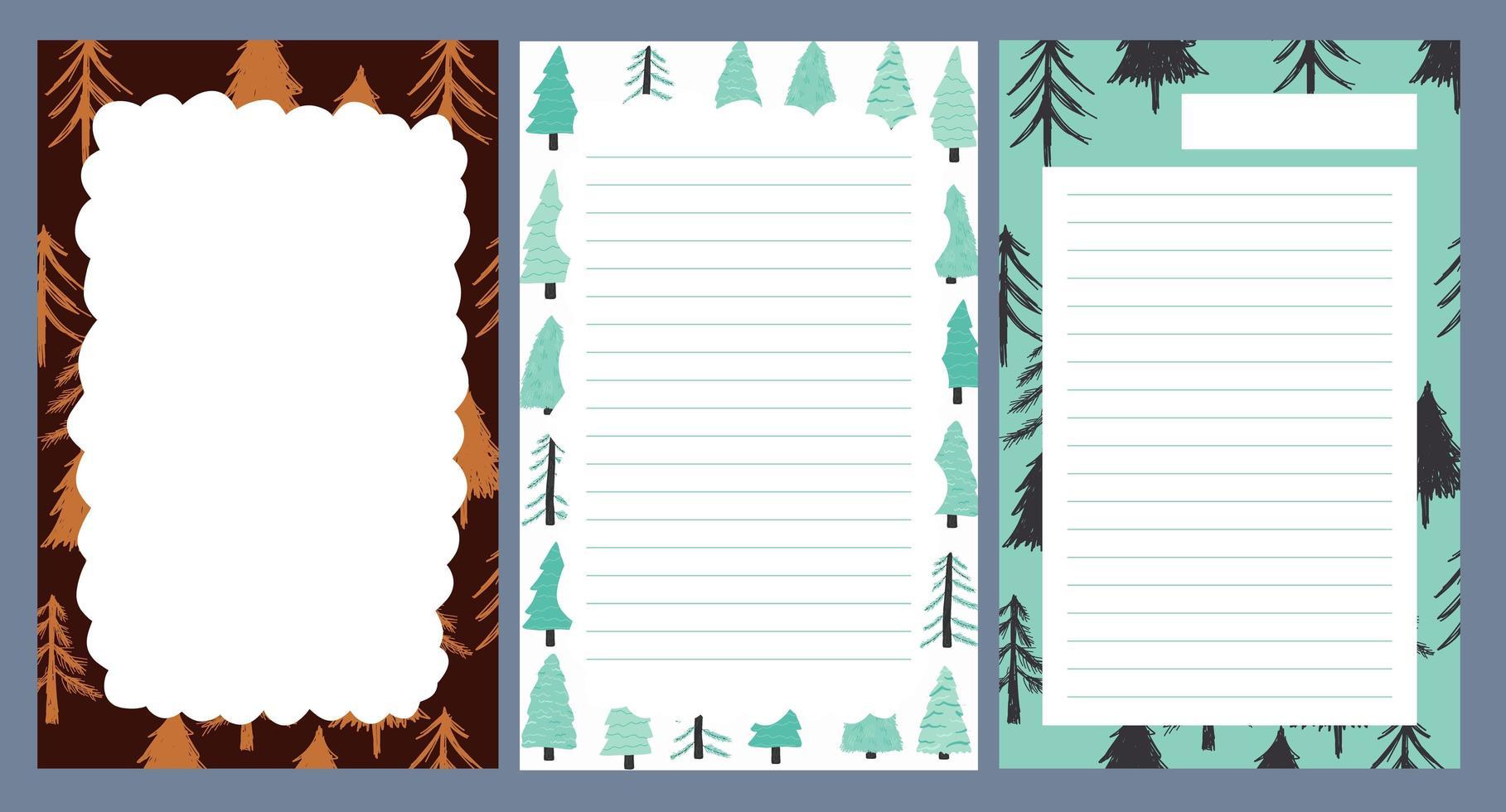 autocollant de vacances de Noël, journal, jeu de notes vecteur