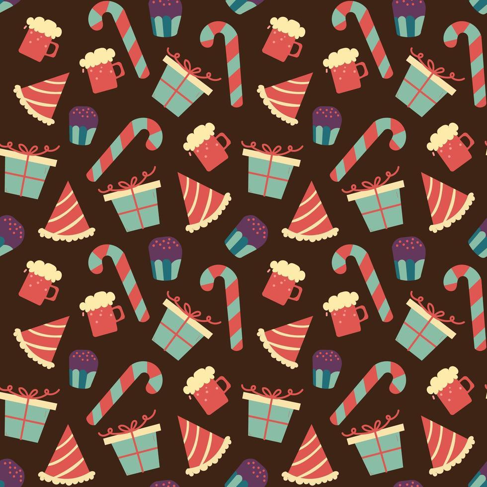 motif de chocolat sans soudure avec des bonbons sucrés vecteur