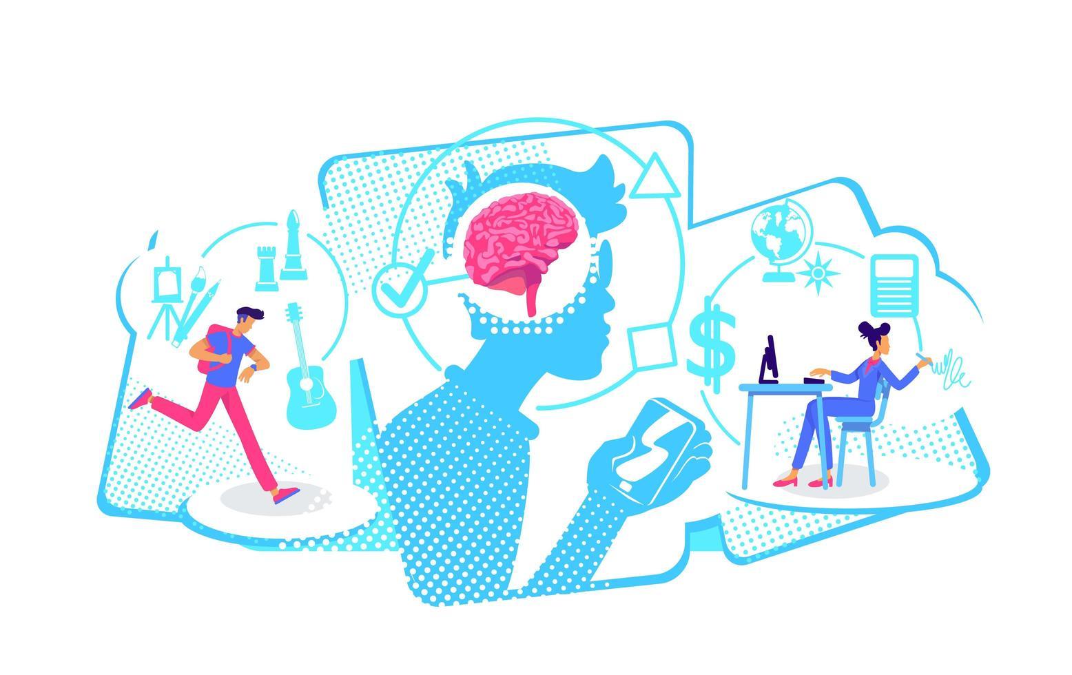 façons de penser multitâches vecteur