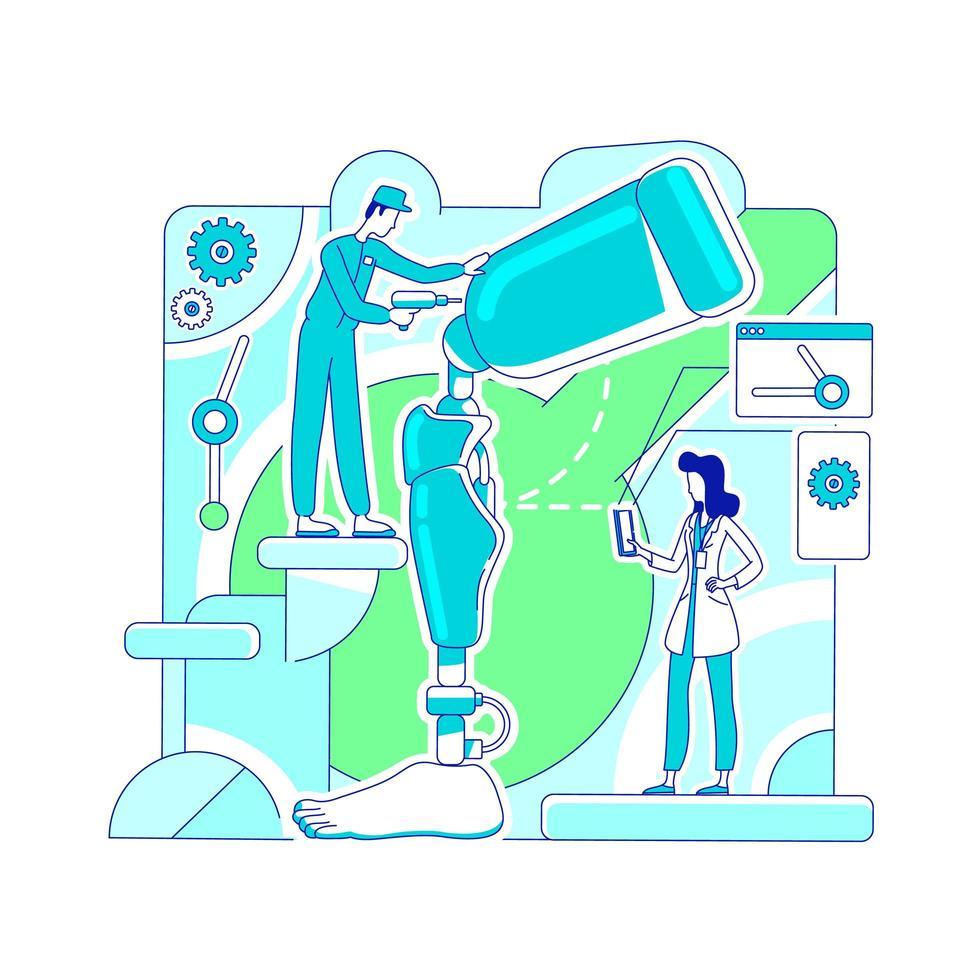 atelier de laboratoire de prothèse vecteur