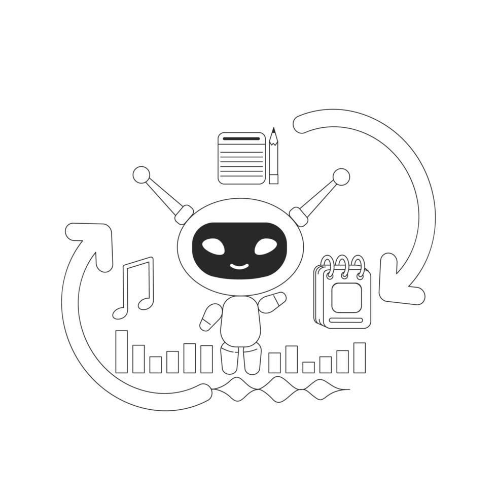 bot assistant personnel intelligent vecteur