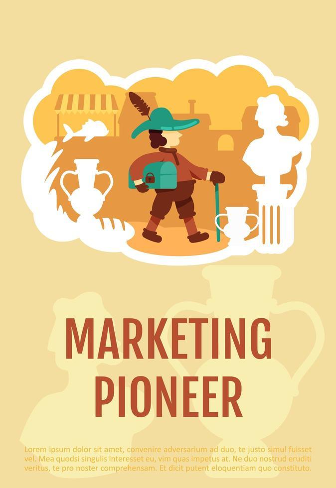 affiche de pionnier du marketing vecteur