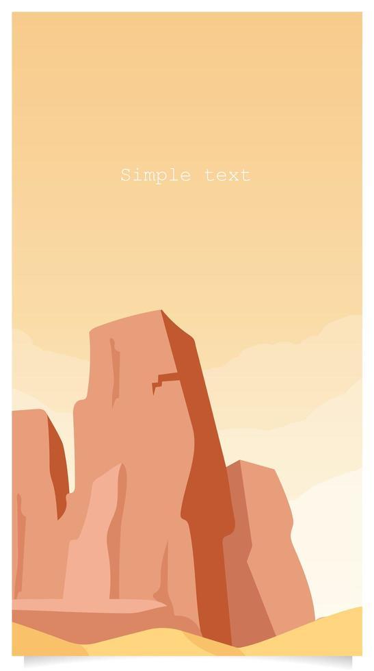 canyon plat avec espace de texte vecteur