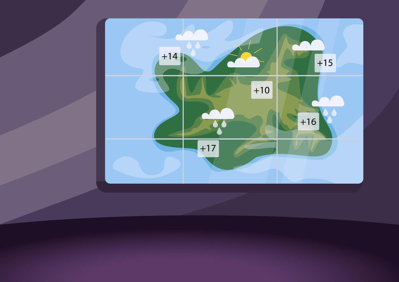 studio de prévisions météorologiques vecteur