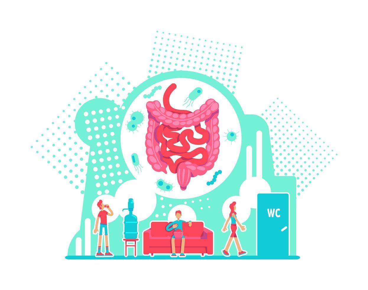 soins de santé du système digestif vecteur