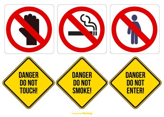 Collection de signes de danger vecteur