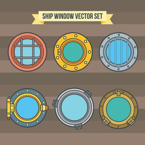 Icônes vectorielles de fenêtre de navire vecteur