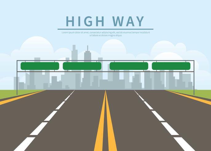 Illustration de l'autoroute Infinity gratuit vecteur
