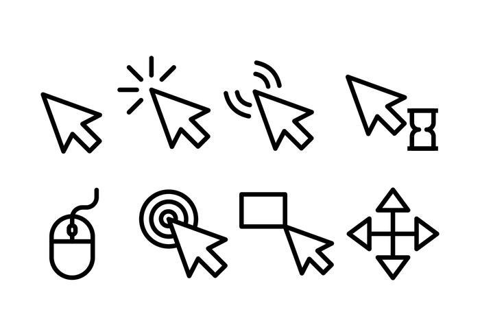Icônes vectorielles de pointeur de souris vecteur