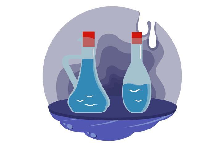 Vecteur de vin Decanter