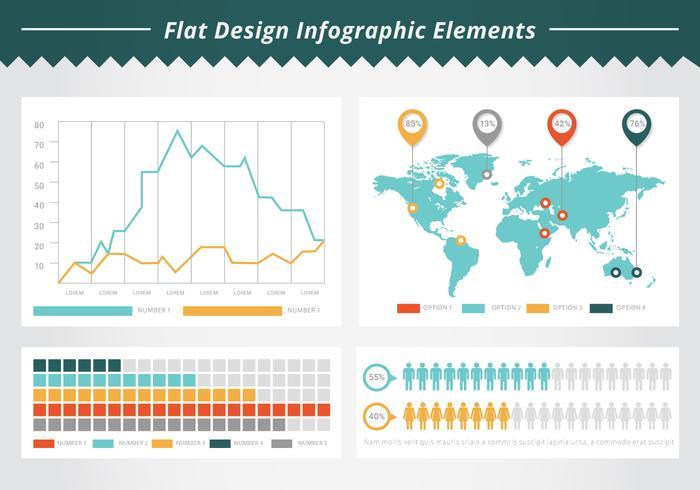 Éléments infographiques de Business gratuit vecteur