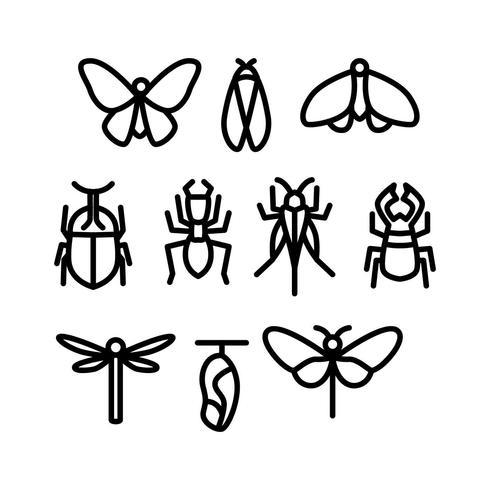Vecteur d'icône insecte ligne libre