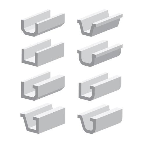 Gouttières 3D Style vecteur