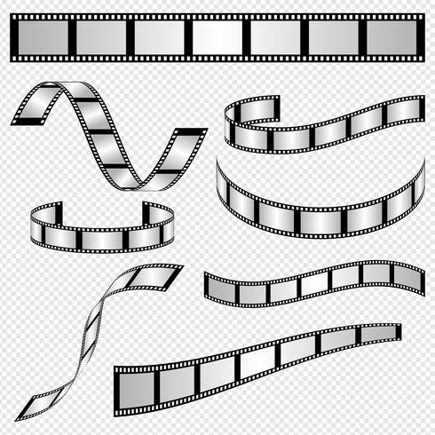 Vecteurs de bande de film vecteur