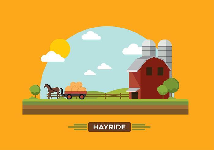 Vecteur de Hayride de cheval gratuit