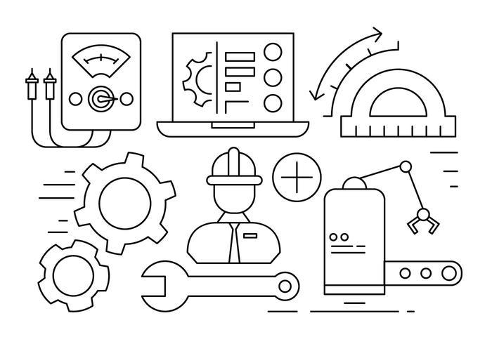 Illustration d'ingénierie gratuite vecteur