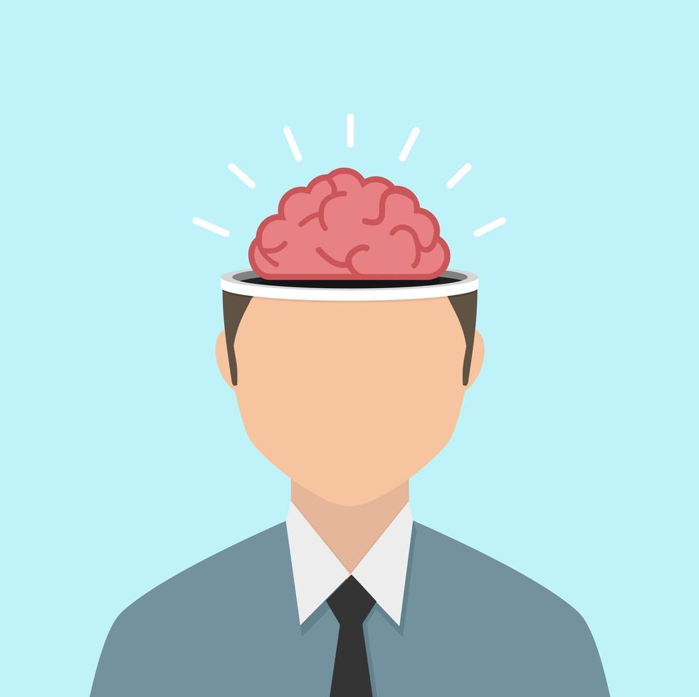 concept de tempête de cerveau homme d & # 39; affaires vecteur