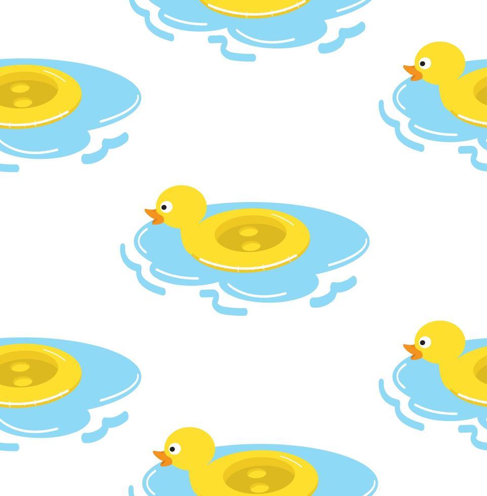 modèle sans couture de bague de flotteur de canard vecteur