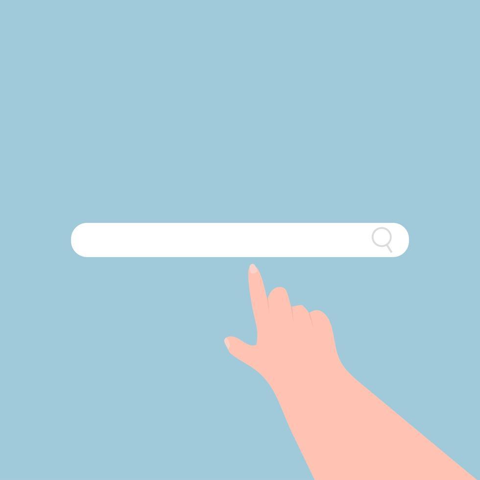 concept de vecteur de recherche de main