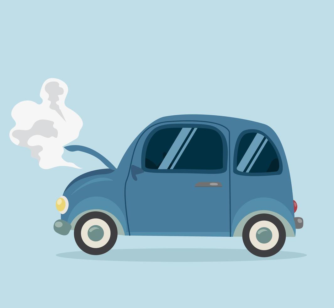 panne mini voiture style plat vecteur
