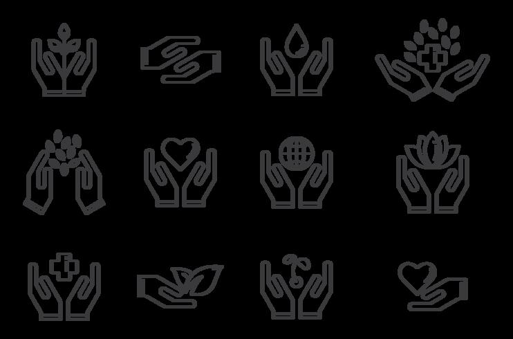 Vecteur de guérison icônes d'icônes