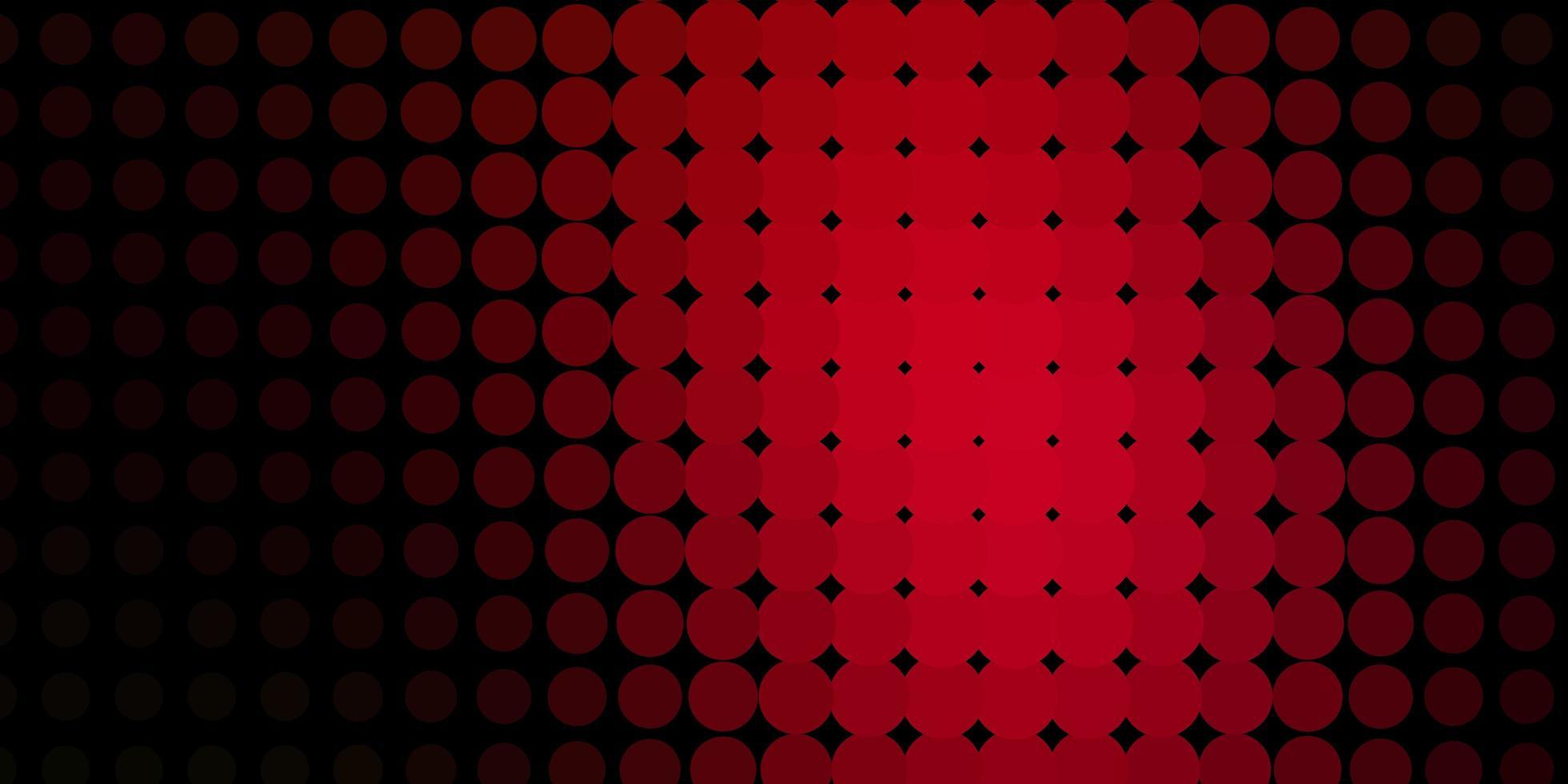 modèle vectoriel rouge foncé avec des cercles.