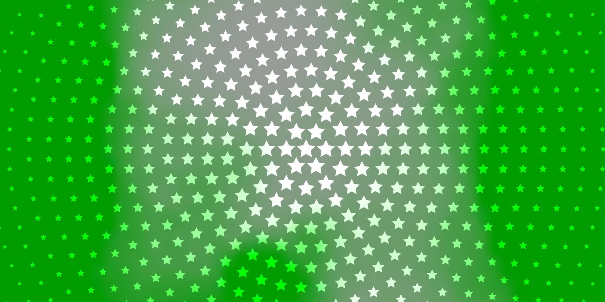 modèle vert clair avec des étoiles au néon. vecteur