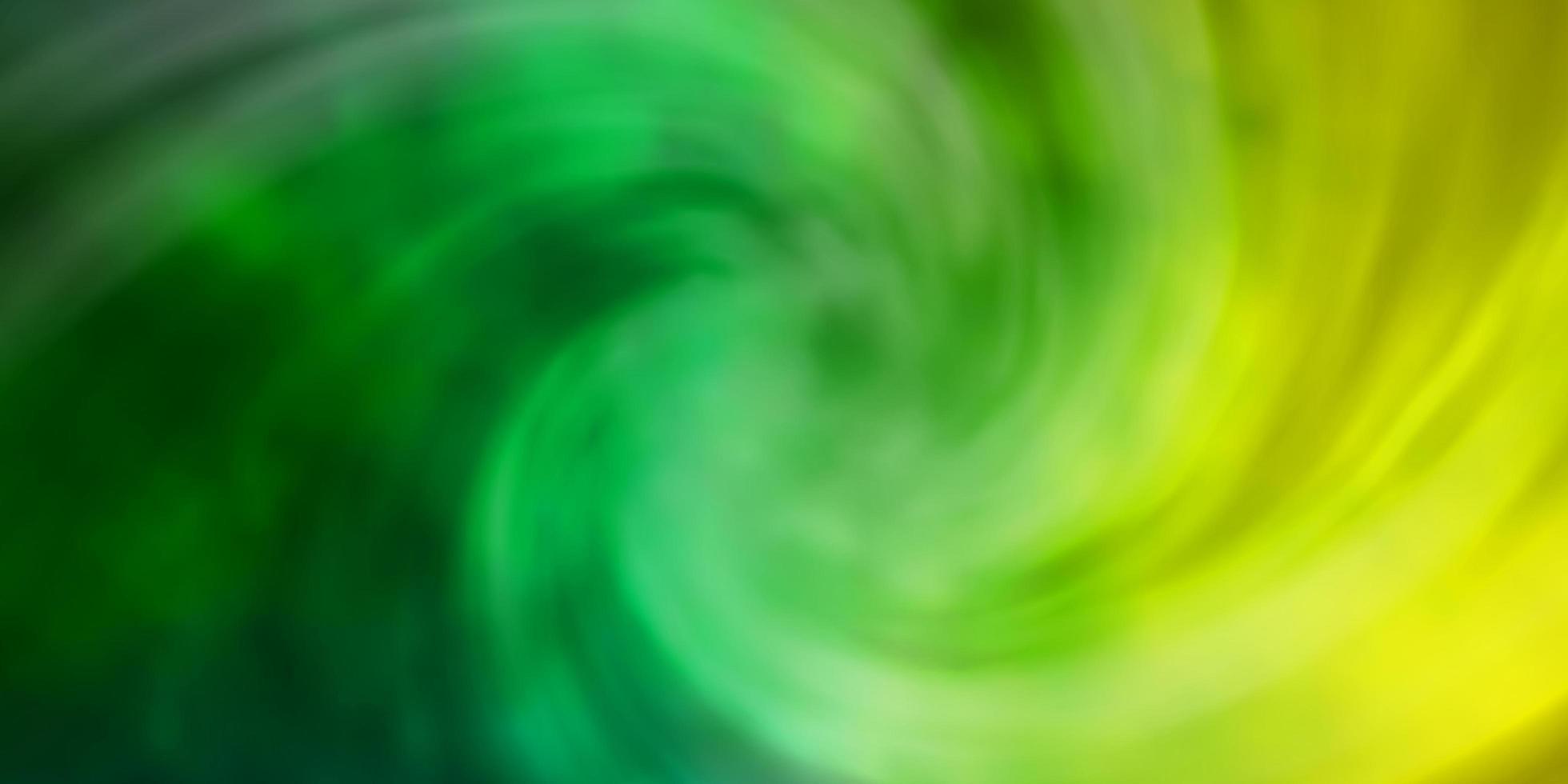 modèle vert clair, jaune avec ciel, nuages. vecteur