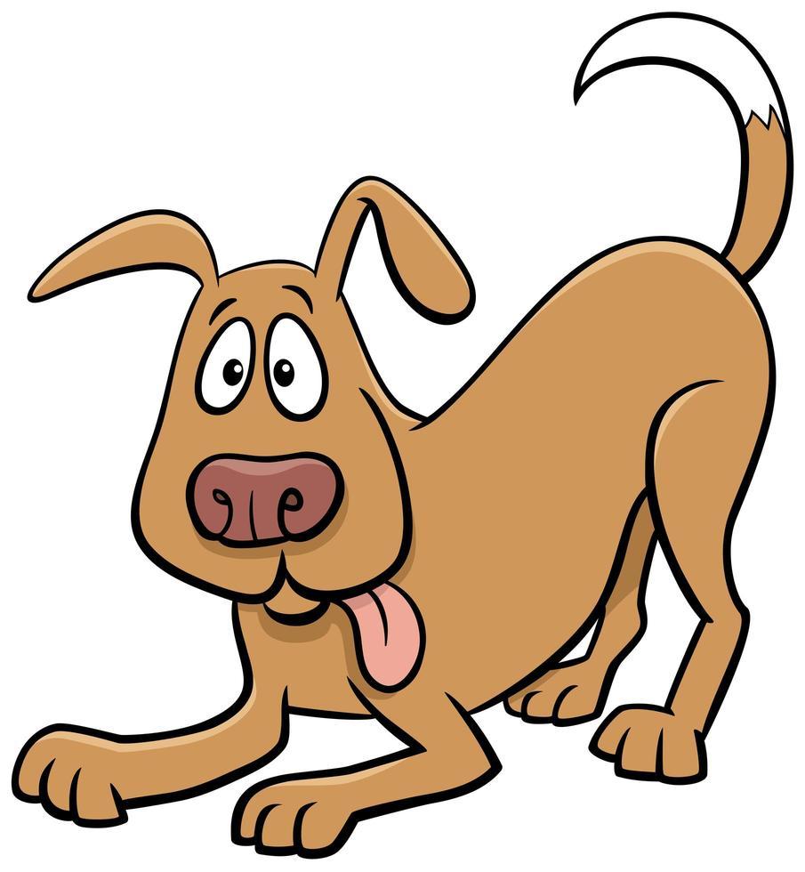 personnage de dessin animé ludique chien ou chiot vecteur