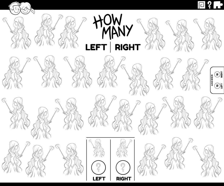 compter les photos gauche et droite de la sorcière vecteur