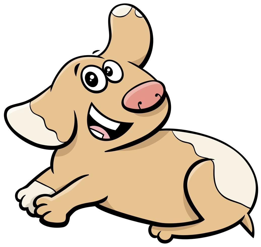 dessin animé heureux mignon chiot animal caractère vecteur