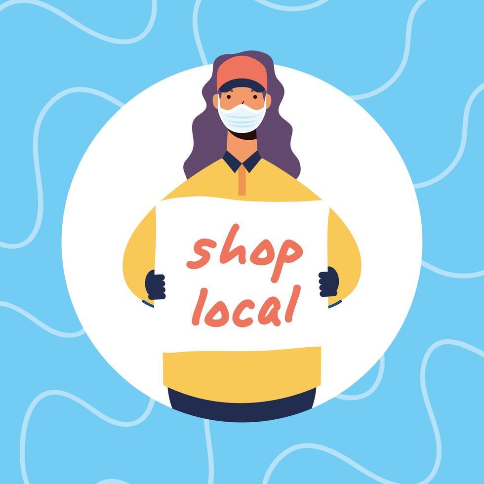 soutenir la composition de campagnes commerciales locales vecteur