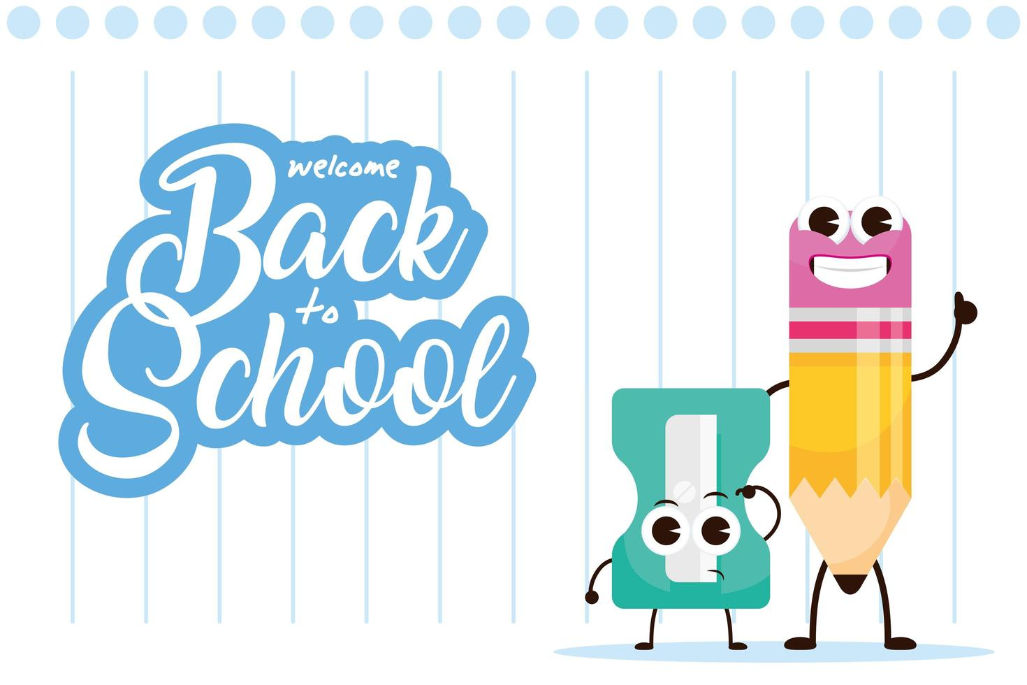 l'école kawaii fournit des personnages pour la rentrée scolaire vecteur