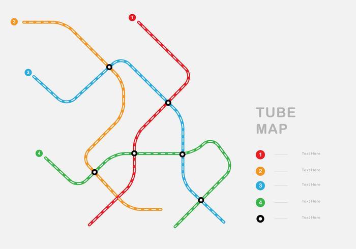 Carte du tube simple vecteur