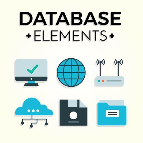 Vecteur gratuit d'éléments de base de données
