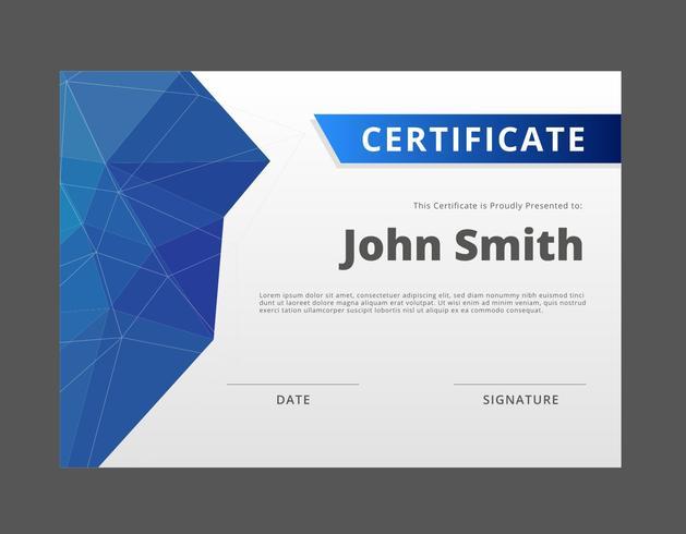 Modèle de certificat ou de diplôme gratuit vecteur