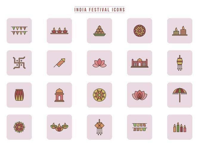 Vecteurs gratuits du Festival de l'Inde vecteur