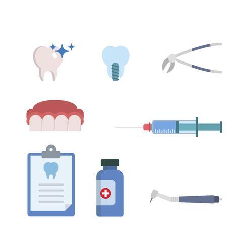 Vecteurs de dentiste à plat vecteur