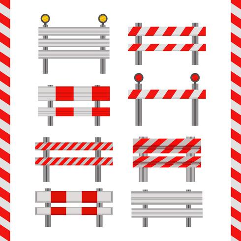 Icônes vectorielles de garde-corps vecteur