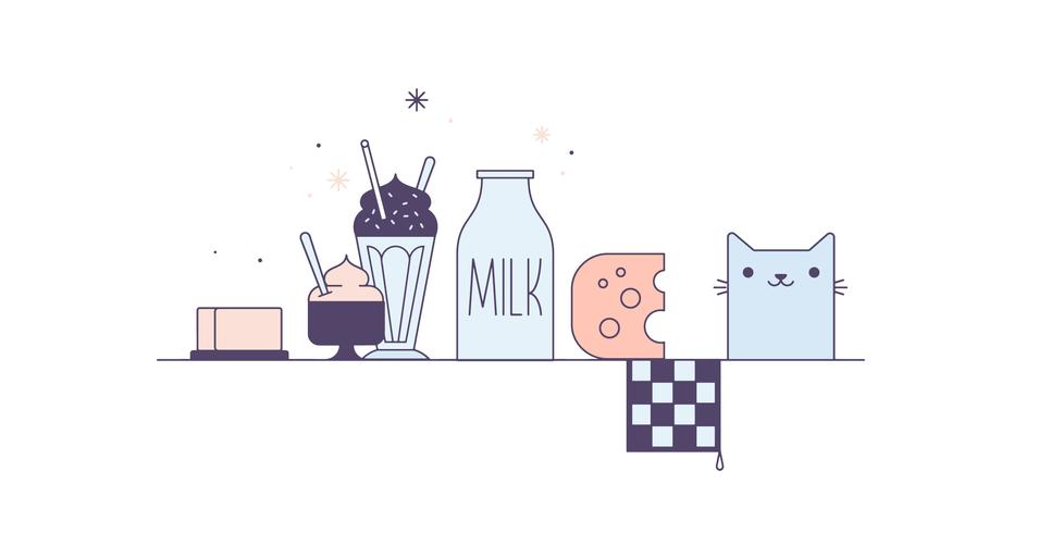 Vecteur de produits laitiers gratuit