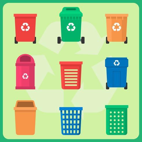 recycler les déchets vecteur