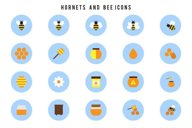 Frelons et vecteurs d'abeilles gratuits vecteur